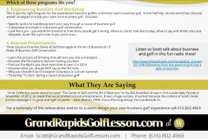 2014 Business Golf Programs